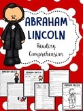 Abraham  Lincoln Biography Reading Comprehension Worksheet, Civil War, Slavery
