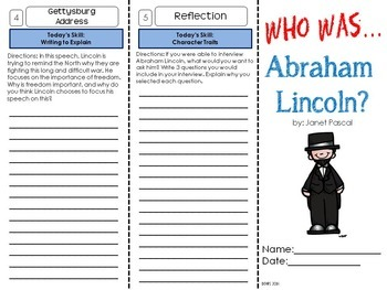 Abraham Lincoln Foldable Biography Unit
