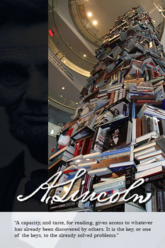 Abraham Lincoln - Book Tower Poster