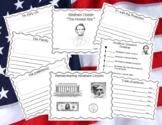 Abraham Lincoln Booklet with Writing Starters - Text Features