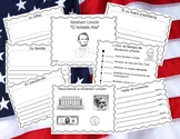 Abraham Lincoln Booklet with Writing Starters - Text Features - In Spanish