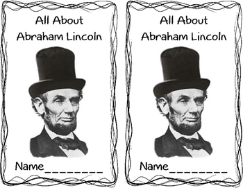 Abraham Lincoln Booklet and Nonfiction Reading Response- President's Day Fun!