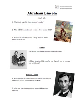 Abraham Lincoln + Lincoln Assassination Presentations