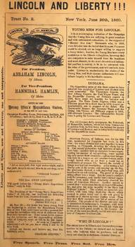 Abraham Lincoln  Campaign Newspapers 1860 - 1864