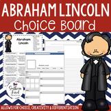 US Presidents - Abraham Lincoln Choice Board