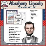 Abraham Lincoln Civil War Vocabulary Set
