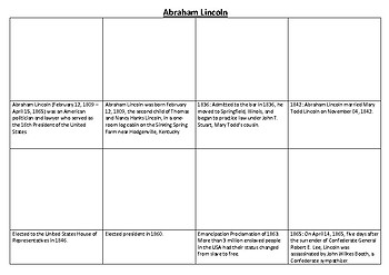 Abraham Lincoln Comic Strip and Storyboard