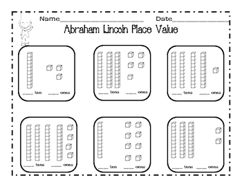 Abraham Lincoln  Craft & Worksheets