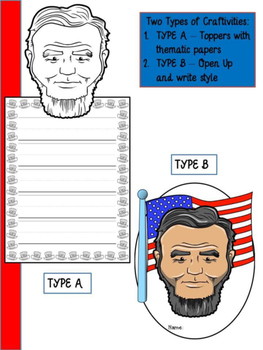Abraham Lincoln - Craftivity Set - Editable