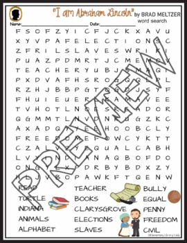 Abraham Lincoln Crossword and Word Search Find Activities Brad Meltzer Book
