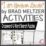 Abraham Lincoln Activities Crossword Puzzle and Word Searches Brad Meltzer Book