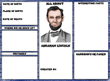 Abraham Lincoln Digital Research Brochure in Google Slides™