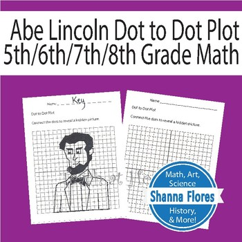 Abraham Lincoln Dot to Dot Plot, Graphing Ordered Pairs, Fun Math