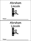 Abraham Lincoln- Early Reader Kindergarten and First Grade- Presidents Day