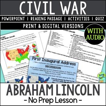 Abraham Lincoln, Emancipation Proclamation, American Civil War, US Civil War