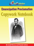 Abraham Lincoln Emancipation Proclamation Copywork  Notebook
