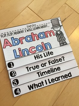 Abraham Lincoln Flip Book PLUS Colored Poster & Student Coloring Page