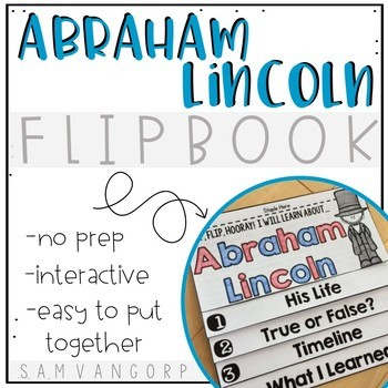 Abraham Lincoln Flip Book PLUS Colored Poster & Student Co