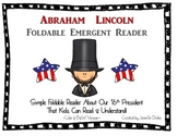 Abraham Lincoln Foldable Emergent Reader ~Color & B&W~ PLUS Printable!