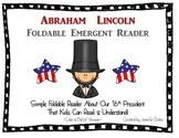 Abraham Lincoln Foldable Emergent Reader ~Color & B&W~ PLU