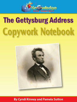 Abraham Lincoln Gettysburg Address Copywork Notebook :With