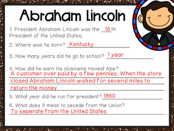Abraham Lincoln Google Classroom Assignment
