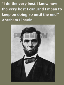 Abraham Lincoln Quote Growth Mindset Poster By Social Studies
