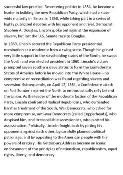 Abraham Lincoln Handout