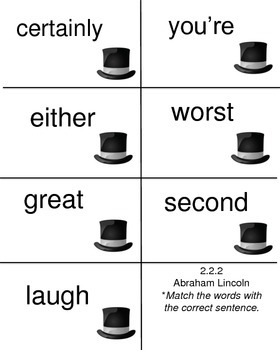 Abraham Lincoln, High Frequency Words, Reading Street