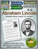 Abraham Lincoln Biography Reading Comprehension - Print and Digital Versions