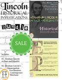 Historical Investigations Bundle: Emancipation Proclamation; Lincoln on Race