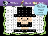 Abraham Lincoln Hundreds Chart Fun - Watch, Think, Color M