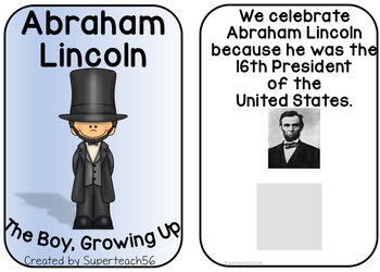 Abraham Lincoln Interactive Books  * SPECIAL EDUCATION