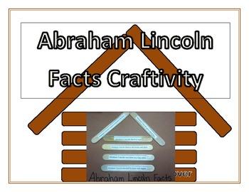 Abraham Lincoln Log Cabin Craftivity