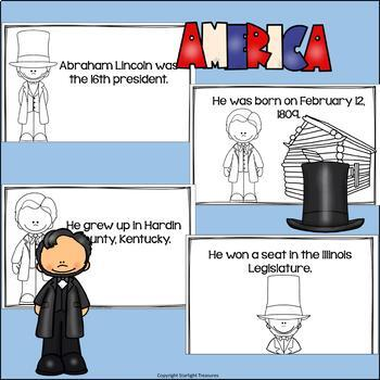 Abraham Lincoln Mini Book for Early Readers: Presidents' Day