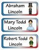 Abraham Lincoln Mini Research Fold-Ems, Word Wall, & Writing Templates