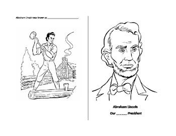 Abraham Lincoln Mini book SOL 2.11 Famous Americans