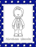 Abraham Lincoln (NO PREP) pages for PreK-1st Grade