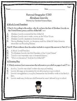 Abraham Lincoln: National Geographic Kids!