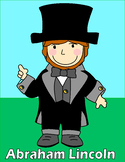 Abraham Lincoln Paper Bag Puppet, Poster, and Writing Prompts
