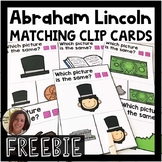 Abraham Lincoln Picture Matching Task Cards | Special Education | FREEBIE