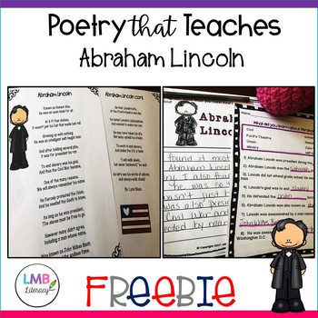 Abraham Lincoln Poetry FREE RESOURCE