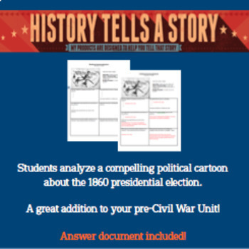 Abraham Lincoln Political Cartoon Analysis Election Of 1860 Tpt
