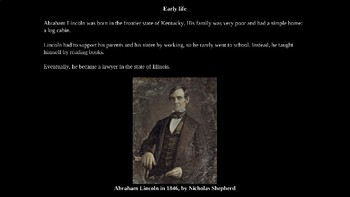 Abraham Lincoln PowerPoint for Kids with Review Quiz