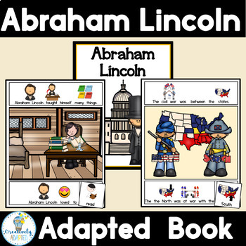 Abraham Lincoln- Presidents Day Adapted Book