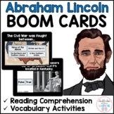 Abraham Lincoln Presidents Day BOOM CARDS™ for Distance Learning