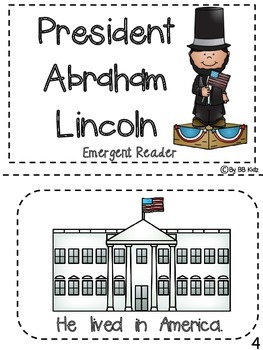 Abraham Lincoln President's Day Emergent Reader and Activities