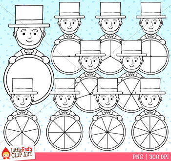 Abraham Lincoln Presidents' Day Spinners Clip Art