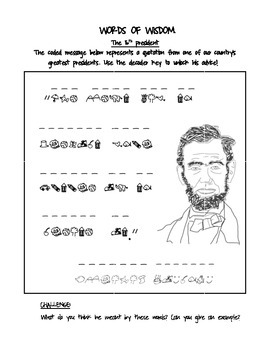 Abraham Lincoln Quotation Puzzler