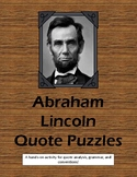 Abraham Lincoln Quote Puzzles